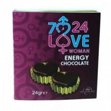 7/24 Love Kalpli Çikolatası (Woman)
