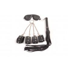 Pipedram Deri Çantalı Kelepçe Seti Siyah